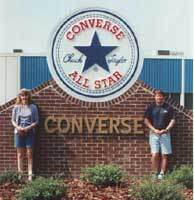 Converse manufactured chucks and other shoes at its Lumberton, NC plant until 2000.