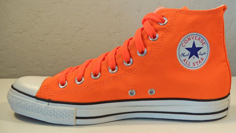 SCH38 Neon Orange High Top Chucks a405deb1d