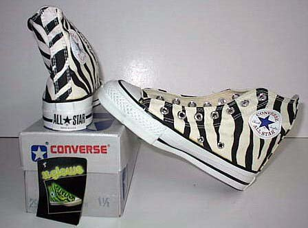 6a8f91623e81 12 Chucks With Animal Print Uppers Zebra print high tops that glow in the  dark