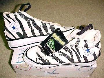 6953992d286c 14 Chucks With Animal Print Uppers Zebra print high tops that glow in the  dark