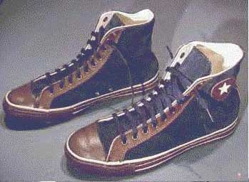 384cf127a1e4 The original sneakers were made of rubber and plain brown canvas