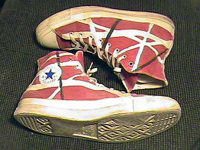 Van Halen's red high tops
