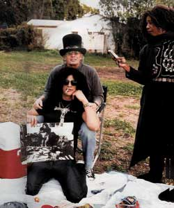 Slash and his parents