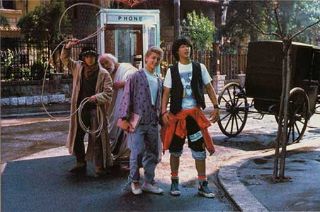 Bill and Ted go back in time