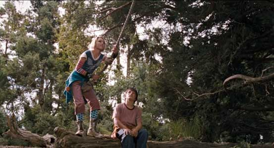 Leslie and Jesse get to the land of Terabithia