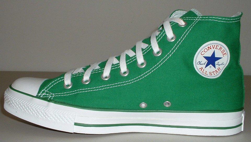 edf171afeab 4 Celtic Green HIgh Top Chucks Celtic green high top