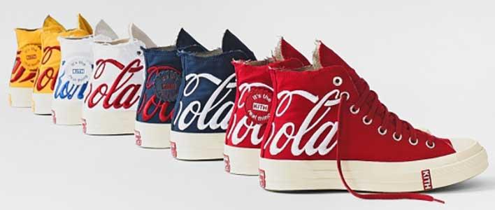 857bc82db1 Kith-Coca Cola high top chucks