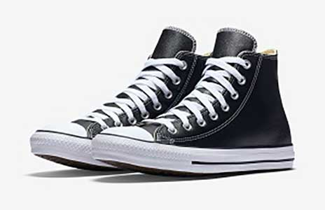 Leather high top chucks