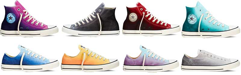 b3d6b77cae04 Sunset Wash Collection. Converse Sunset Wash Shoe Models. Top row  Plastic  Pink ...