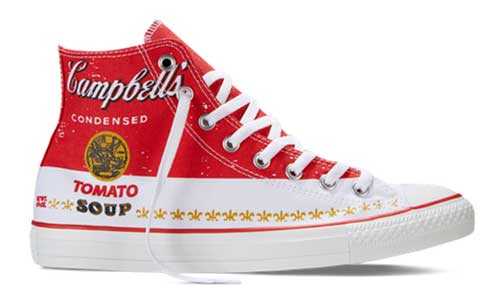 Andy Warhol red high top