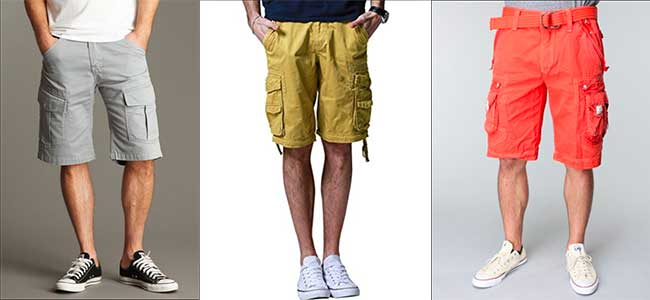 cargo shorts with low cut chucks