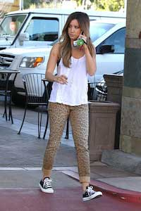 Celebrities like Ashley Tisdale wear chucks daily in Beverly Hills