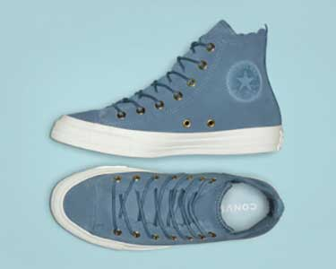 e4b07b957767 Converse Thrilly Filly high tops. Blue Chuck Taylor ...