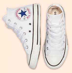 white oversized logo chucks