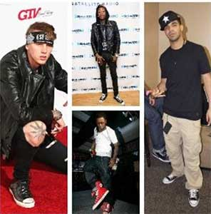 Rappers wearing chucks