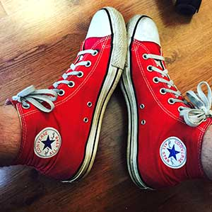 Mark's red high tops
