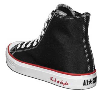 Black/Red/White Chuck Taylor Reform high top