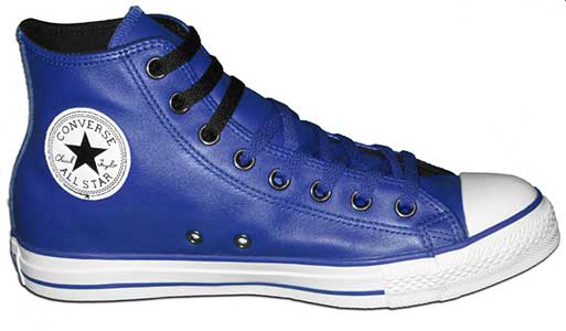 royal blue leather high top chuck