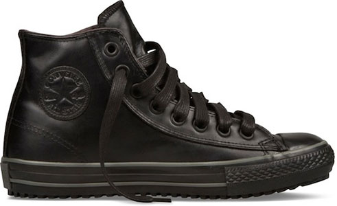 6c12fdea92da The all black model of the Chuck Taylor sneaker boot. It also is available  in black and white.