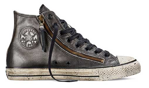 john varvatos metallic zip hi