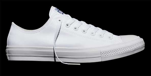 white all star low
