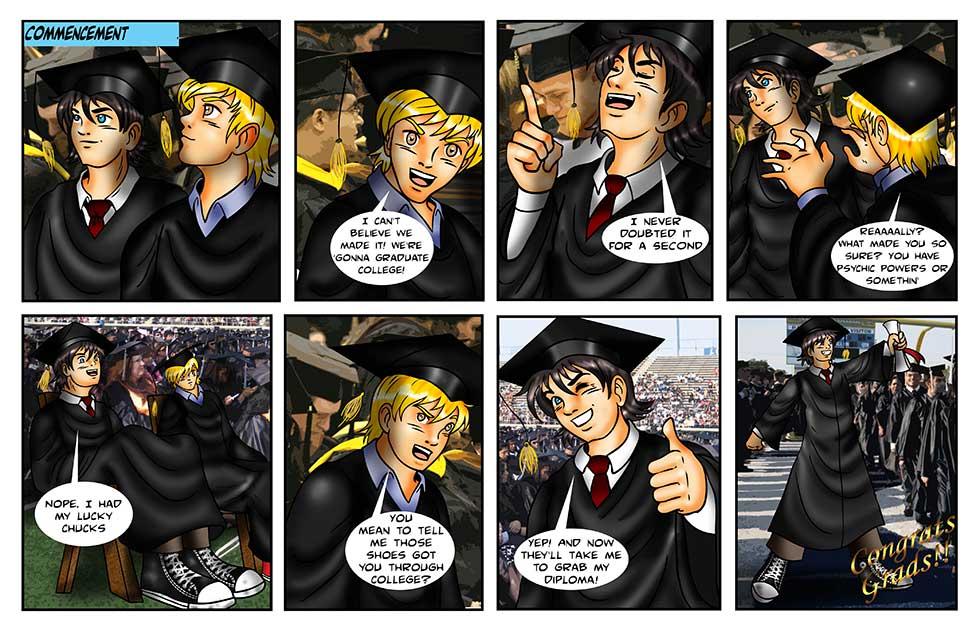 Graduation comic strip