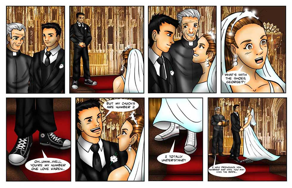 wedding comic strip