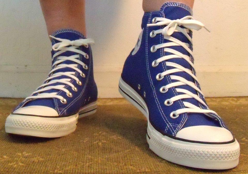 3a71d9608bec Dazzling Blue High Top Chucks