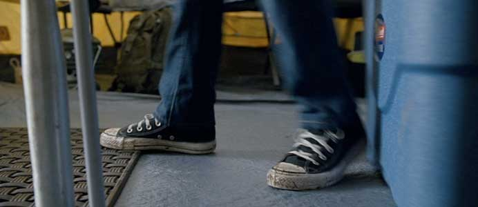 Greg's chucks are getting dirty after all the summer action.