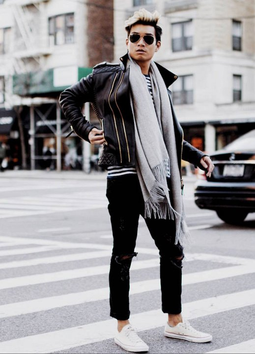 8feafbb528 17 Guys Wearing Optical White Chucks Wearing optical white low tops with black  jeans