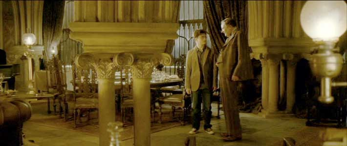 Harry stays after the party to talk to Professor Slughorn