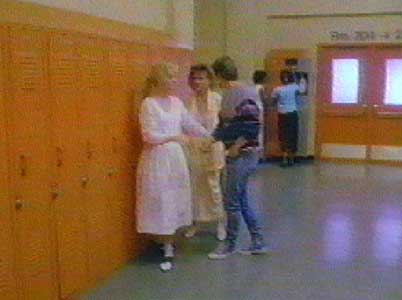 Vicky and Craig in the halls of Hamilton High