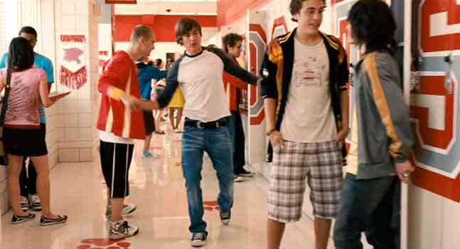 High School Musical Locker Room Scene