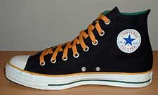 black green and amber high top