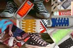 shoelaces on chucks collage