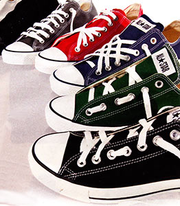 chucks with alternate lacings 2