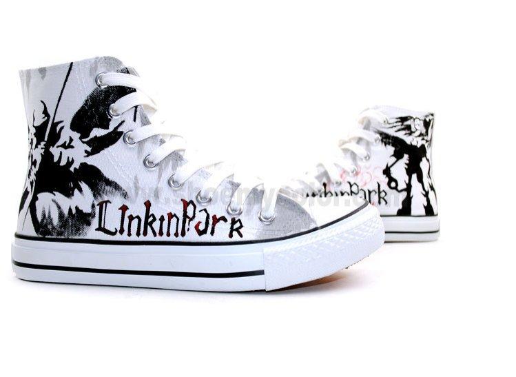 e6adabff40579c 13 Linkin Park Hand painted high top chucks.