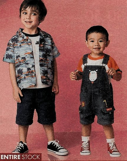 0fed856a65c2a0 10 Little Kids Wearing Chucks Young boy wearing black low cut and toddler  wearing red high top chucks.