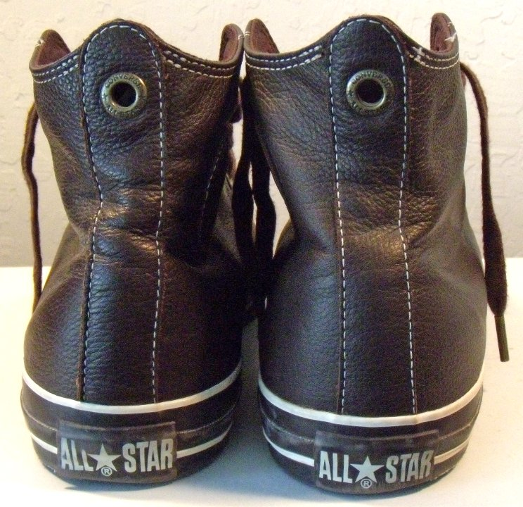 489a66633b07 5 Lightly Worn Brown Euro Leather High Tops