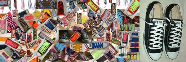 classic shoelace collage