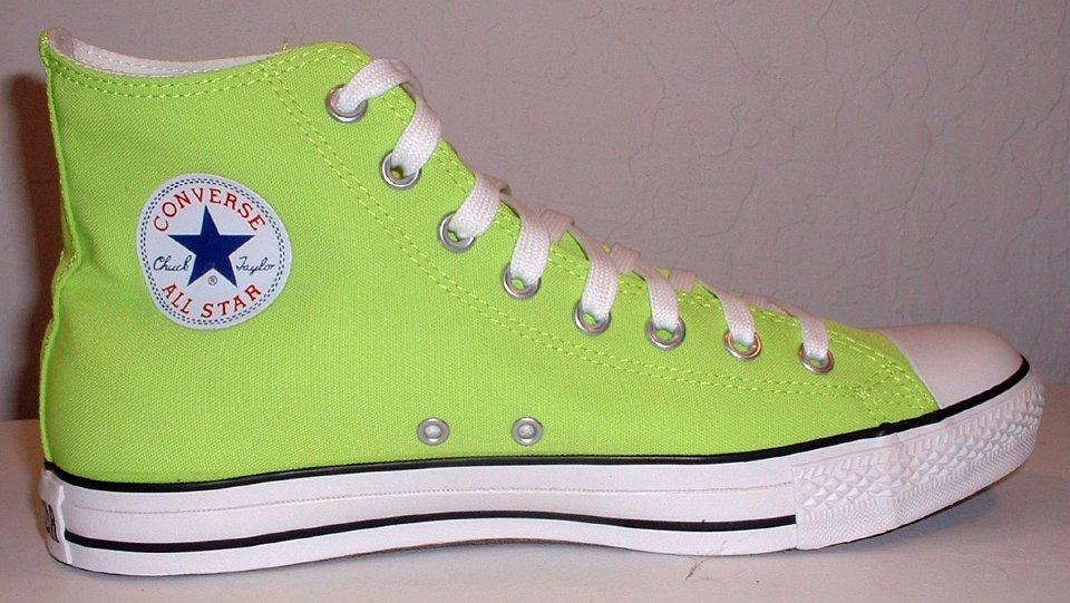 Neon Green High Top Chucks