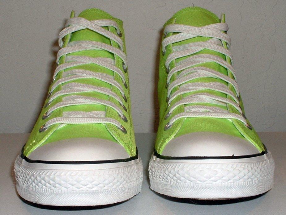 00a02efcf4d176 Neon Green High Top Chucks