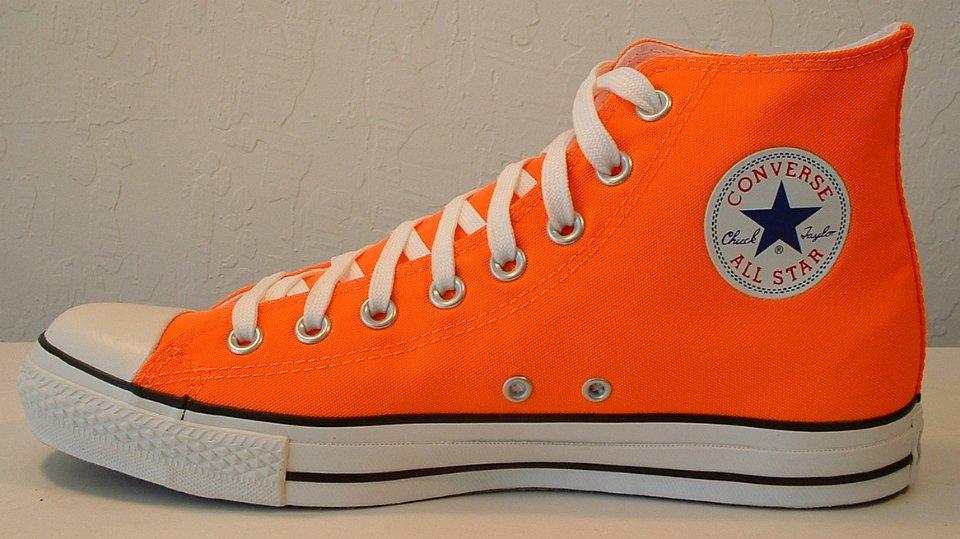Neon Orange High Tops