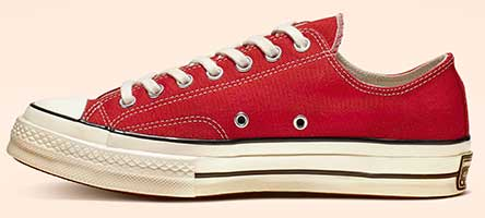 Enamel Red Chuck 70 low