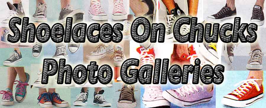 collage of shoelaces on chucks