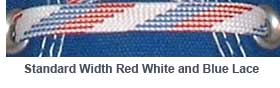 Red, White, and Blue Weave Shoelace