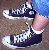 Nvy high top chucks