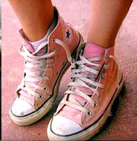 Pink high top chucks