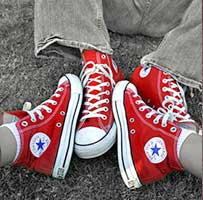 Red high top chucks