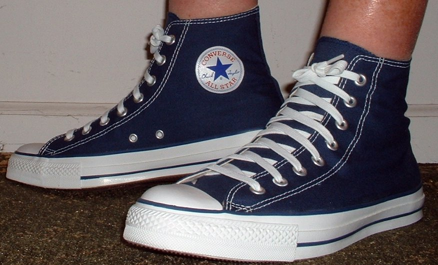 d3e66f082d 26 Socks for Your Chucks No show socks worn with navy blue high tops